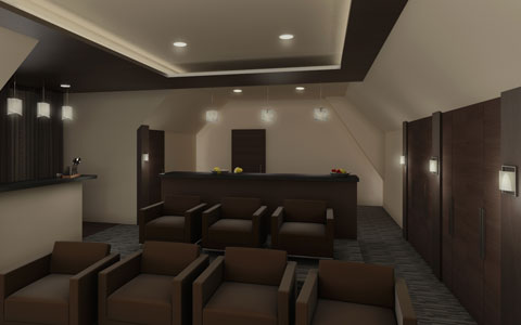 Home Theater Before. Design Build