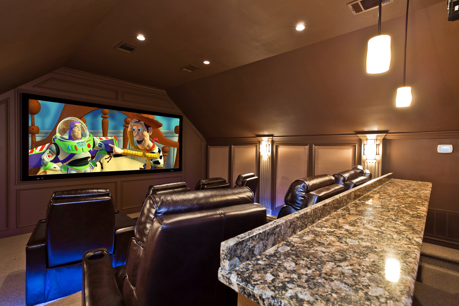 Design, rendering and construction of theater in Fairview, TX